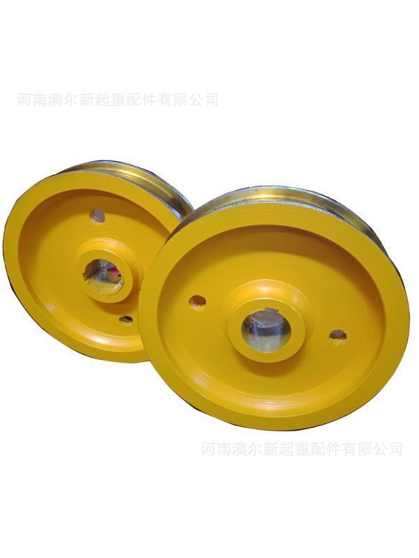 车轮直销 铸钢材料车轮 φ 600 轨道车轮组