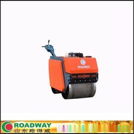 570kg常柴柴油机人力转向自动离心离合振动-驱动液压泵和马达小型手扶双钢轮压路机路得威品牌直销
