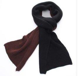 秋冬新款韓版撞色針織加厚男士女士爆款圍巾批發
