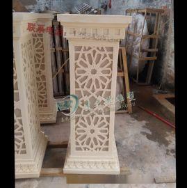 佛山沙岩雕塑广东罗马柱艺术砂岩柱墩