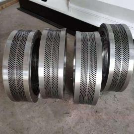 供应**560颗粒机环模模具 耐磨合金钢环模模具出料均匀