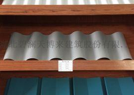 彩色波紋壓型彩鋼板40-160-800
