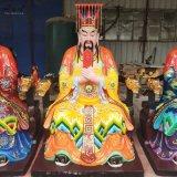 五嶽之首東嶽大帝圖片 黃飛虎塑像 神像廠家