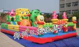 海綿寶寶兒童充氣城堡蹦蹦牀  廣西賀州兒童遊樂園低投資項目