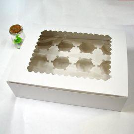 12格加厚cupcake马芬纸杯子蛋糕西点慕斯杯盒 批发 月饼包装礼盒