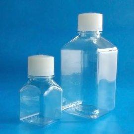 晶安生物J00125方形血清瓶 1000ml 培养基瓶 灭菌125ml 500ml血清瓶 塑料血清瓶 方形血清瓶 PET血清瓶 厂家供应