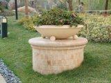 三個圓球石材花鉢 人造石花鉢 人造砂岩花盆 藝術砂岩花鉢