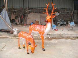 玻璃钢仿真梅花鹿 树脂动物工艺品 海南房地产雕塑摆设定做厂家
