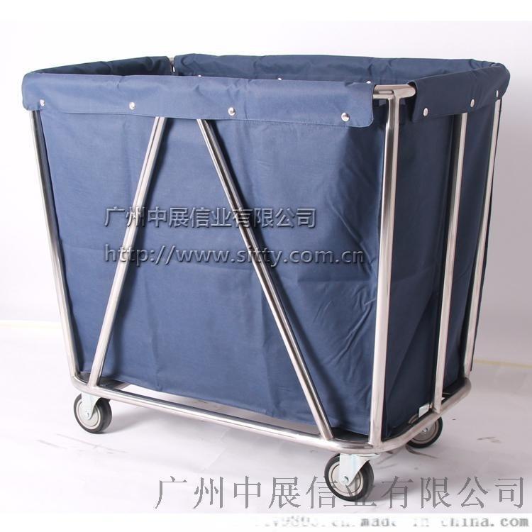 专业生产SITTY斯迪90.3202H不锈钢斜柱布草车/服务车