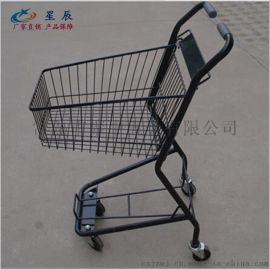 厂家定制超市购物车 日式双层购物车 酒吧手推车 ktv送酒车