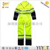 連體工作服/熒光黃連身工衣防護服/阻燃防靜電連體服