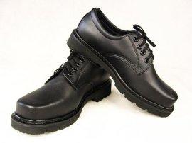真皮四寸士兵皮鞋安保人员制式皮鞋保安工作鞋