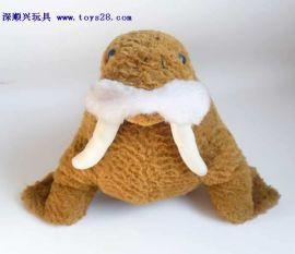 深顺兴毛绒工厂定制设计可爱海象