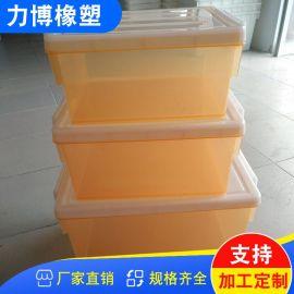 特大号透明加厚塑料衣物收纳整理箱玩具储物箱周转箱子有盖可带轮