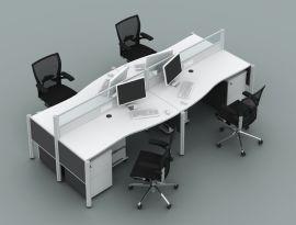 陕西欧乐办公家具168款2800*1400职员屏风位