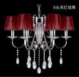 歐式現代鐵藝水晶吊燈客廳餐廳臥室吊燈6620