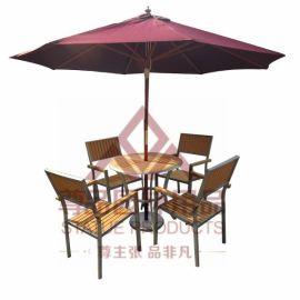 东莞户外家具 厂家供应 户外家具桌椅组合 东莞户外仿木桌椅组合 价格实惠
