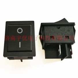 KCD4船型开关 JD03-A1 16A 黑色按键 2档4脚 电源翘板开关