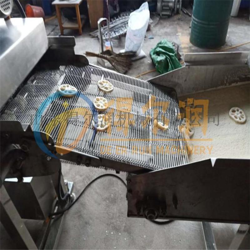 錦州GF5刀魚段裹糠機設備 魚段掛糊機 帶魚上屑機