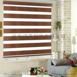简约现代蓝色棉麻窗帘客厅卧室落地窗遮光成品定制