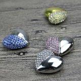 珠宝心形u盘定做,免费设计公司logo,金属材质优盘,个性化u碟,创意礼品优盘制造商