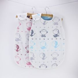 6层提花纱布睡袋 卡通可爱防踢被 婴儿保暖睡袋