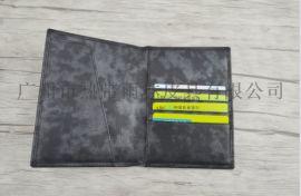 厂家定制OEM商务头层纳帕双色护照包