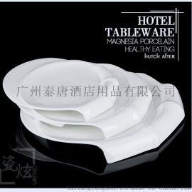 纯白节节高餐盘
