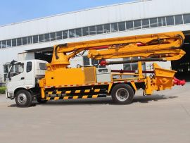 新款龙祥34米混凝土泵车臂架式输送泵车