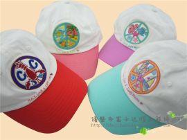 男女童刺绣棒球帽 儿童夏季遮阳拼接全棉品牌防晒大童鸭舌帽