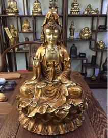 铜雕塑制作厂家  销售铜雕观音菩萨
