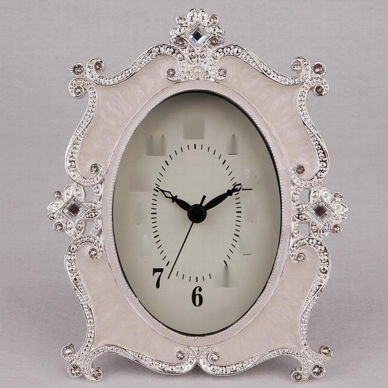 欧式现代台式钟表座钟表摆件家用卧室客厅时钟静音小台钟无闹钟