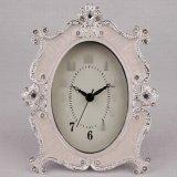 歐式現代臺式鐘錶座鐘錶擺件家用臥室客廳時鐘靜音小檯鐘無鬧鐘