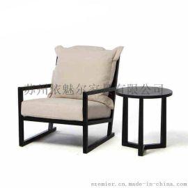 依魅尔家具~新中式家具,新中式休闲沙发001
