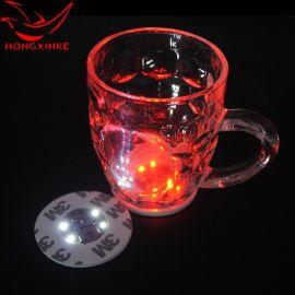 LED發光杯墊貼 深圳廠家定做酒吧用品LED汽車車載發光瓶貼杯墊貼