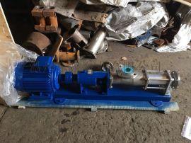 不锈钢螺杆泵,硅胶定子螺杆泵