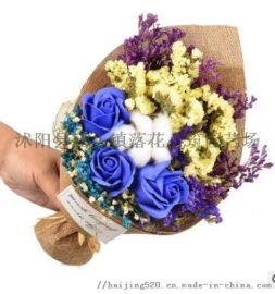 天然干花花束,仿真花永生花礼品定制干花礼盒节日礼物