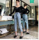 便宜女裝牛仔褲春夏爆款時尚休閒褲破洞牛仔褲清