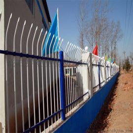 中国银行围墙栏杆蓝白锌钢护栏网欧式工艺围栏