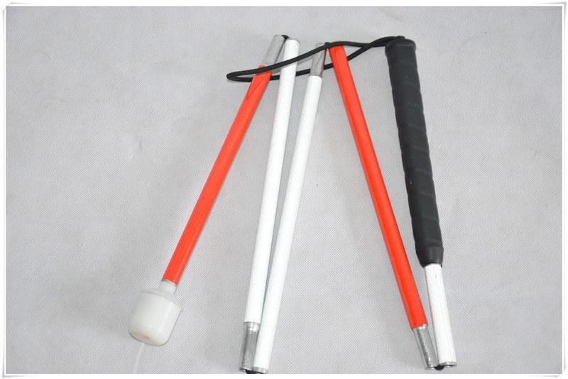 5节旋转头盲杖盲人铝合金拐杖