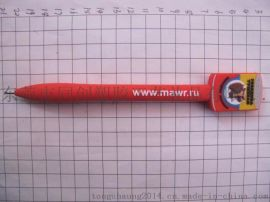 PVC软胶笔,塑胶公仔广告笔,PVC卡通滴胶广告笔