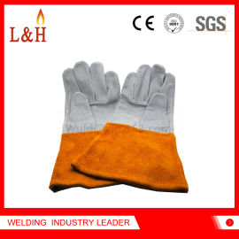 高質量皮革安全防護手套