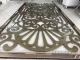 新疆不锈钢屏风隔断加工厂金属花格双色搭配更美