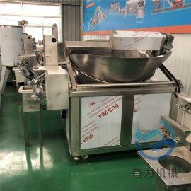 全自动炸豆泡机器 豆泡油炸机 豆腐泡生产设备