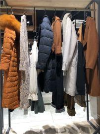 棉麻休闲服装进货【现货】M16女式中长款羽绒服