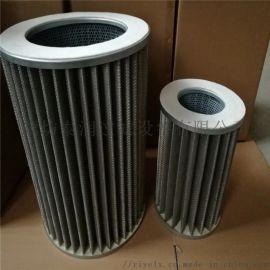垃圾处理设备焚烧炉不锈钢折叠空气滤芯