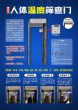 智慧人臉紅外測溫安檢門、車站出入口熱成像測溫設備