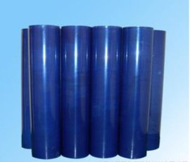 供应蓝色PE静电膜 无胶静电膜 自吸膜