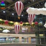 購物中心大型商場室內大堂中庭懸掛熱氣球造型新穎玻璃鋼雕塑掛件