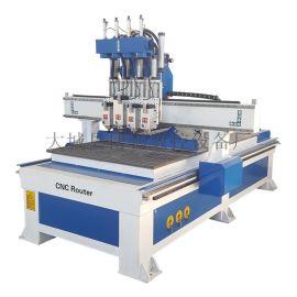 数控自动换刀木工下料机 四工序打孔切割机